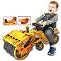 Tamanho grande veículos de Construção de Brinquedos Carro Crianças Passeio Em Compactadores de Impulso de Slides com bebê Comadre Criança Ao Ar Livre Brinquedo de Presente de Natal