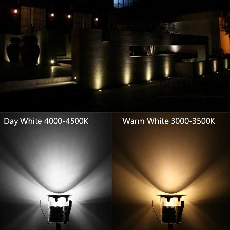 10 шт. свет палубе Водонепроницаемый Нержавеющаясталь Встраиваемые лампа подземных DC12V Spotlight Лестница Путь свет сада