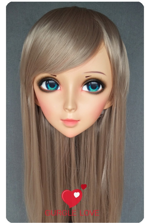 dm177 Reasonable Lovely Sweet Girl Resin Half Head Kigurumi Mask With Bjd Eyes Cosplay Japanese Anime Role Lolita Mask Crossdress Doll Durable Service