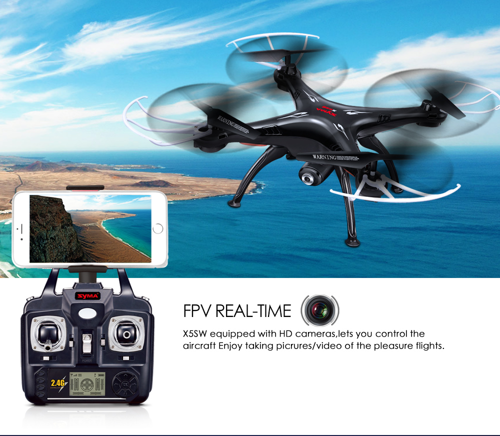 SYMA Official X5SW Drones with Camera HD WiFi FPV Real Time transmission RC Helicopter Quadrocopter RC Dron with Extra Battery 17