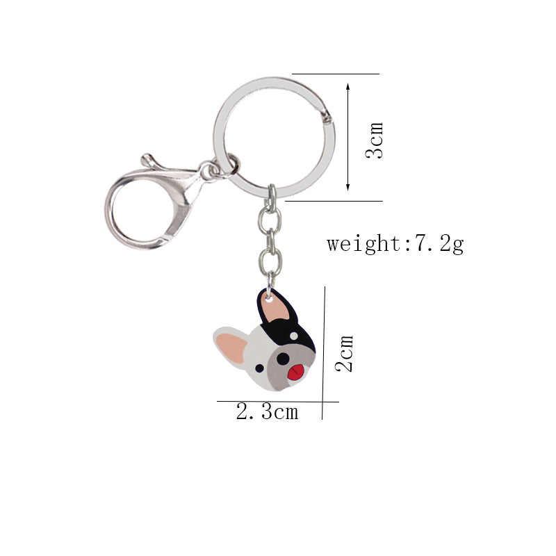 อะคริลิคพวงกุญแจสุนัขแฟชั่นสัตว์ key Chain รถส่วนบุคคล key ผู้ถือจี้ผู้หญิงกระเป๋า charms กุญแจแหวนอุปกรณ์เสริม Coke fries