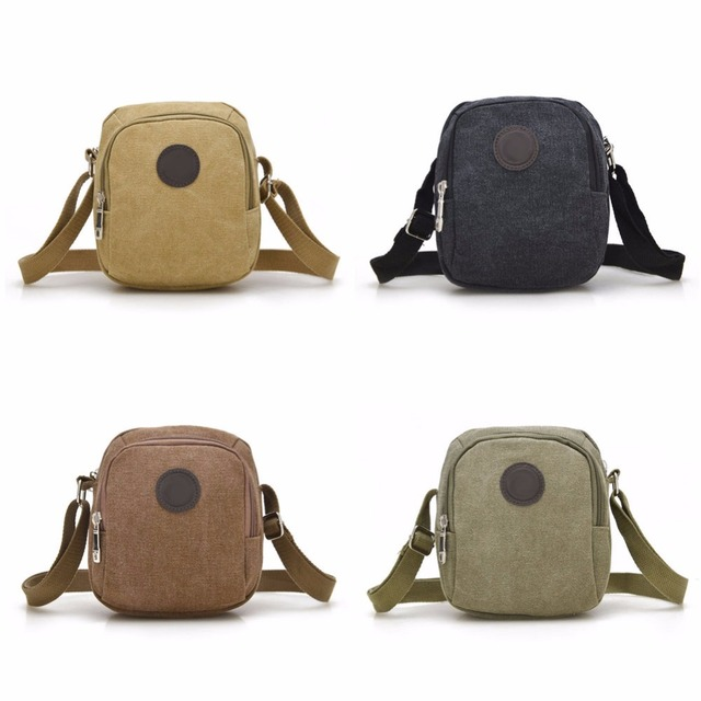 New Arrival Vintage Canvas Men's Shoulder Bag Casual Crossbody Bags for Men Leisure Travel Beach Bag Solid Male Bag Bolsos Mujer