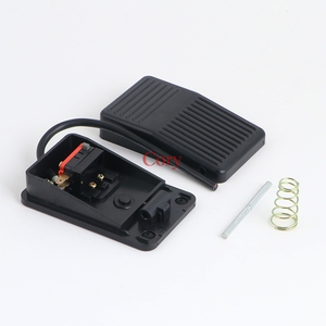 Image 3 - 1PC 220V 10A SPDT Momentary type switch pedal Power Foot Pedal Switch Safety Press Black Plastic CZYC