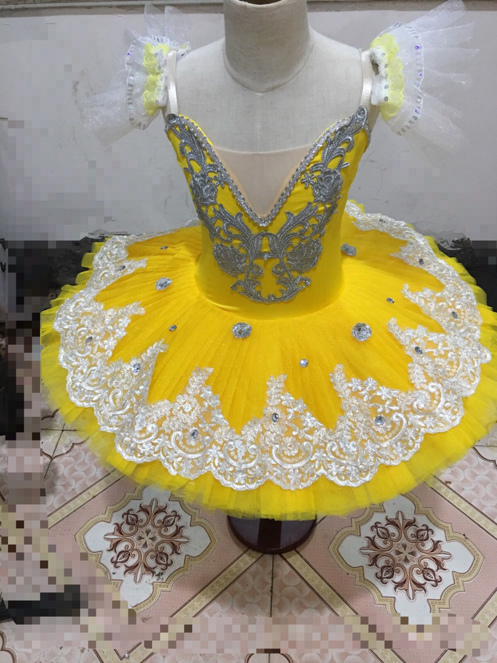 Picture of 2017 New Adult Professional Ballet Tutus Yellow Ballet Dance Cotumes Adult Costume Tutu Dance Leotard Girls Ballet Dress Women