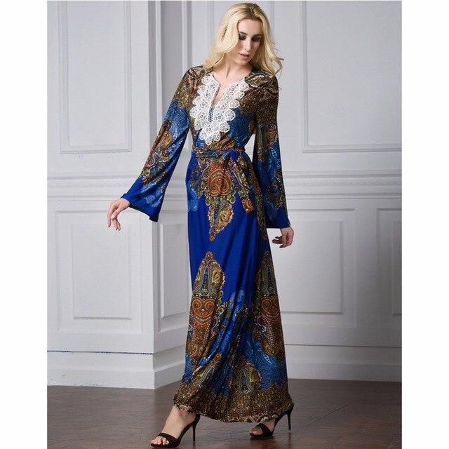 Islamic Abaya Dress Muslim Women Dress Long Sleeve Abaya Clothing Robe Kaftan Style Silk Lace 2