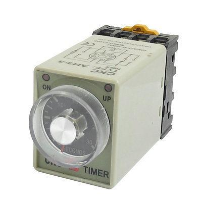 AH3-3 8 Pins 0-30seconds Delay Timer Time Relay AC 110V w Socket Base