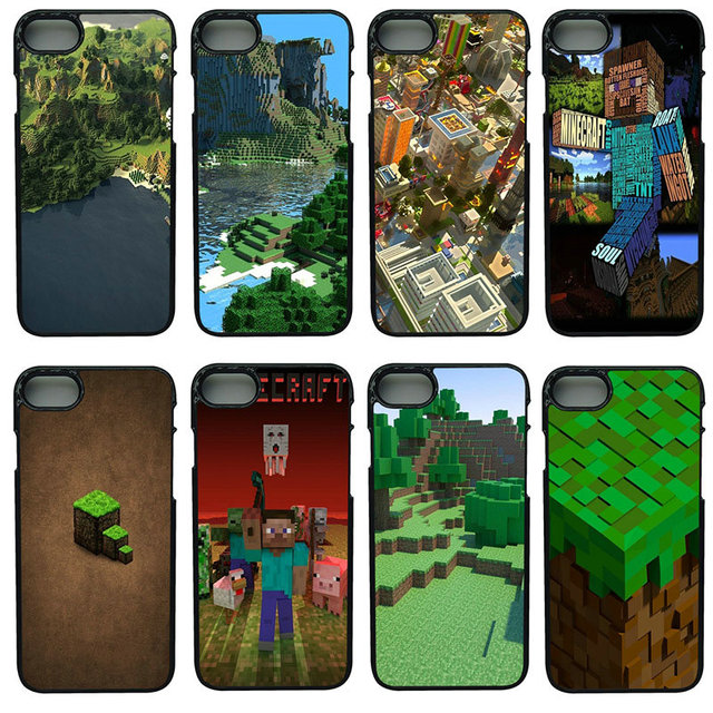 pretty nice 4d6d7 d8a19 Aliexpress.com : Buy Cell Phone Cases Creeper Minecraft for iphone 8 7 6 6S  Plus X 5S 5C 5 SE 4 4S iPod Touch 4 5 6 Shell Black Hard PC Plastic Cover  ...