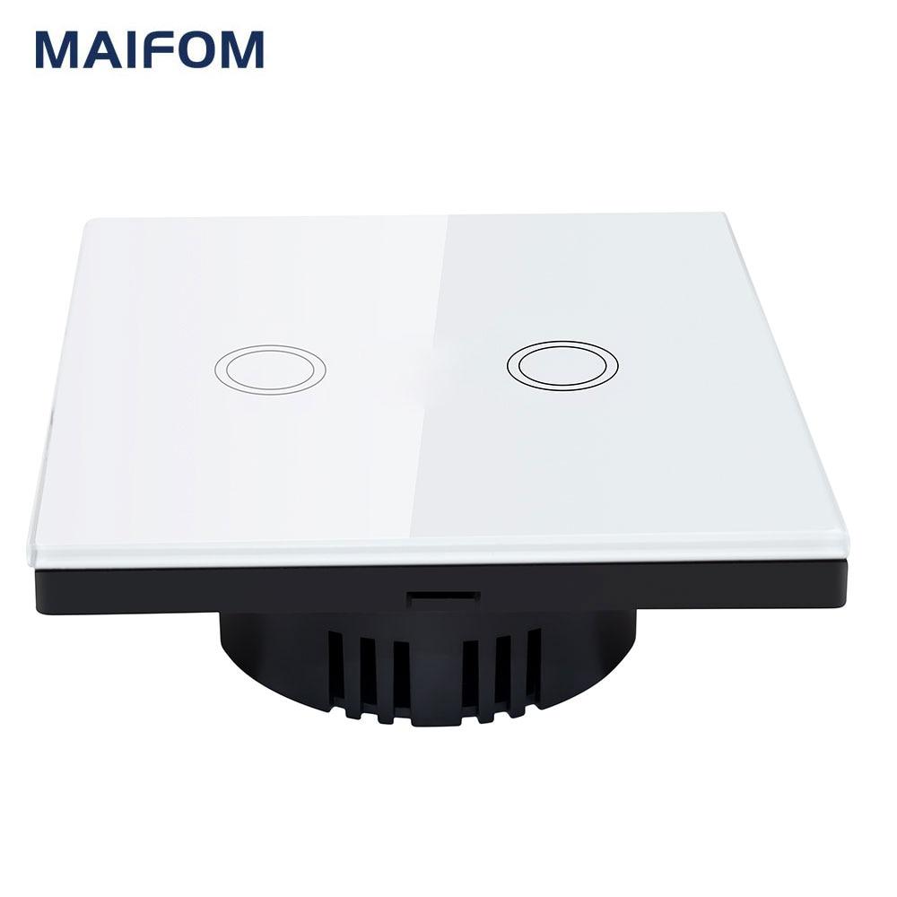 MAIFOM Fernbedienung Lichtschalter EU Standard 2 Gang 1 weg Kristall ...