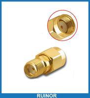 50 pcs or plaqué cuivre Coaxial RF adaptateur SMA Jack à RP SMA Plug Socket