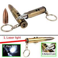 4 w 1 wielofunkcyjna zewnętrzna samoobrona latarka w kształcie kuli Survival EDC Laser + światło + młotek + długopis samoobrona i T