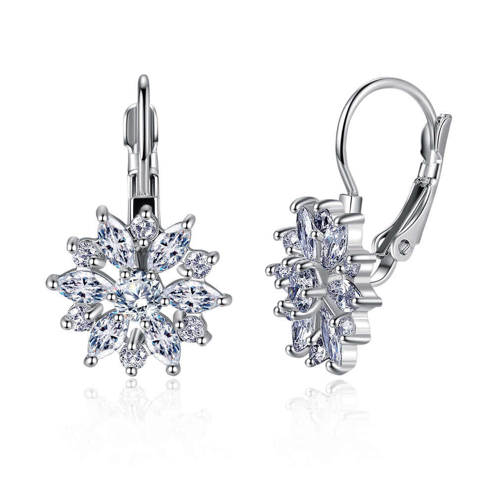 2019 NEW Wild rose gold hypoallergenic earrings Original Crystal from  Swarovski Bella Mini Piercing Woman Earrings