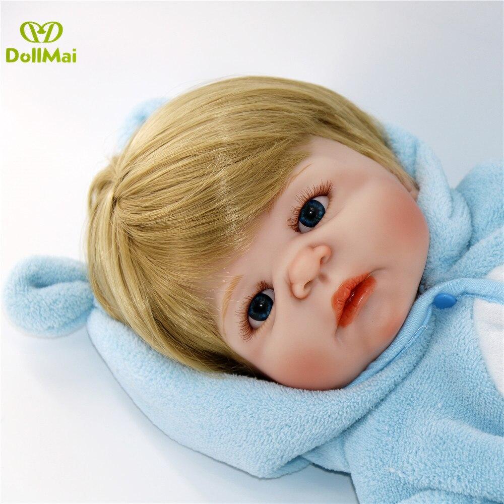 Bebe reborn poupées 57CM réaliste pleine Silicone bébé garçon poupée en mignon doux peluche vêtements vivants bébés poupées comme filles Playmate - 2