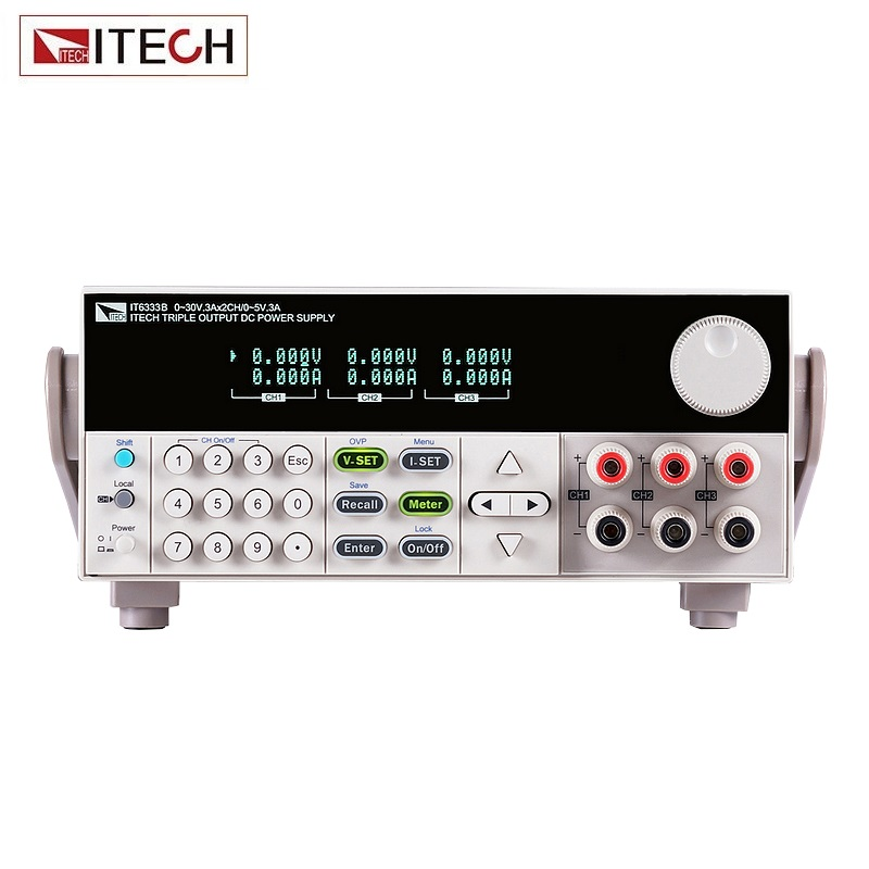 ITECH IT6333B Digital Display 3-channel Programmable DC Power Supply 5V 3A 15W 1CH 60V 3A 180W 2CH RS232 /USB/GPIB itech d605 b