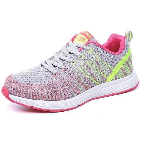 Women sneaker 2019 outdoor breathable couple casual shoes damping mixed color shoes woman fashion sports women running shoes Multan