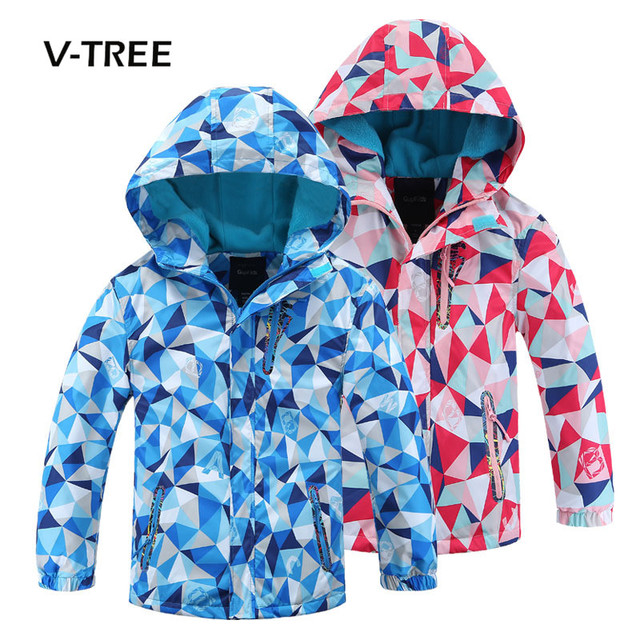 85b9e0831 V-TREE Boys Girls Jacket Coat Warm Fleece Kids Windbreaker Winter Autumn  Children Sports Coat Teenage Children Outwear Jackets
