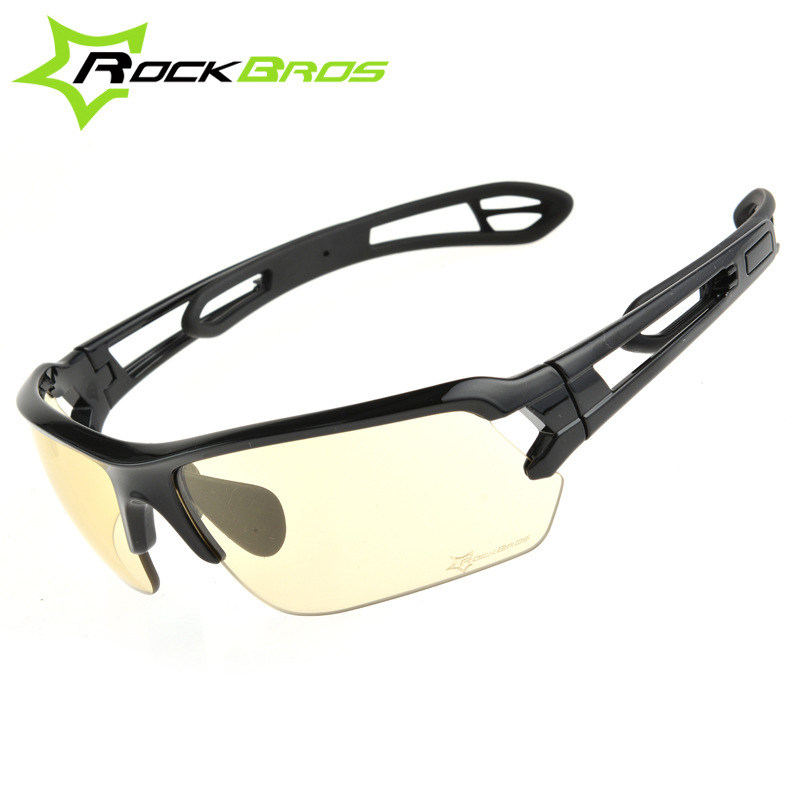 ROCKBROS Discoloration Cycling Glasses With Light MTB Mountain Bicycle Sunglasses Oculos Masculino GS0004 rockbros 2015 oculos ciclismo mtb 3 10016