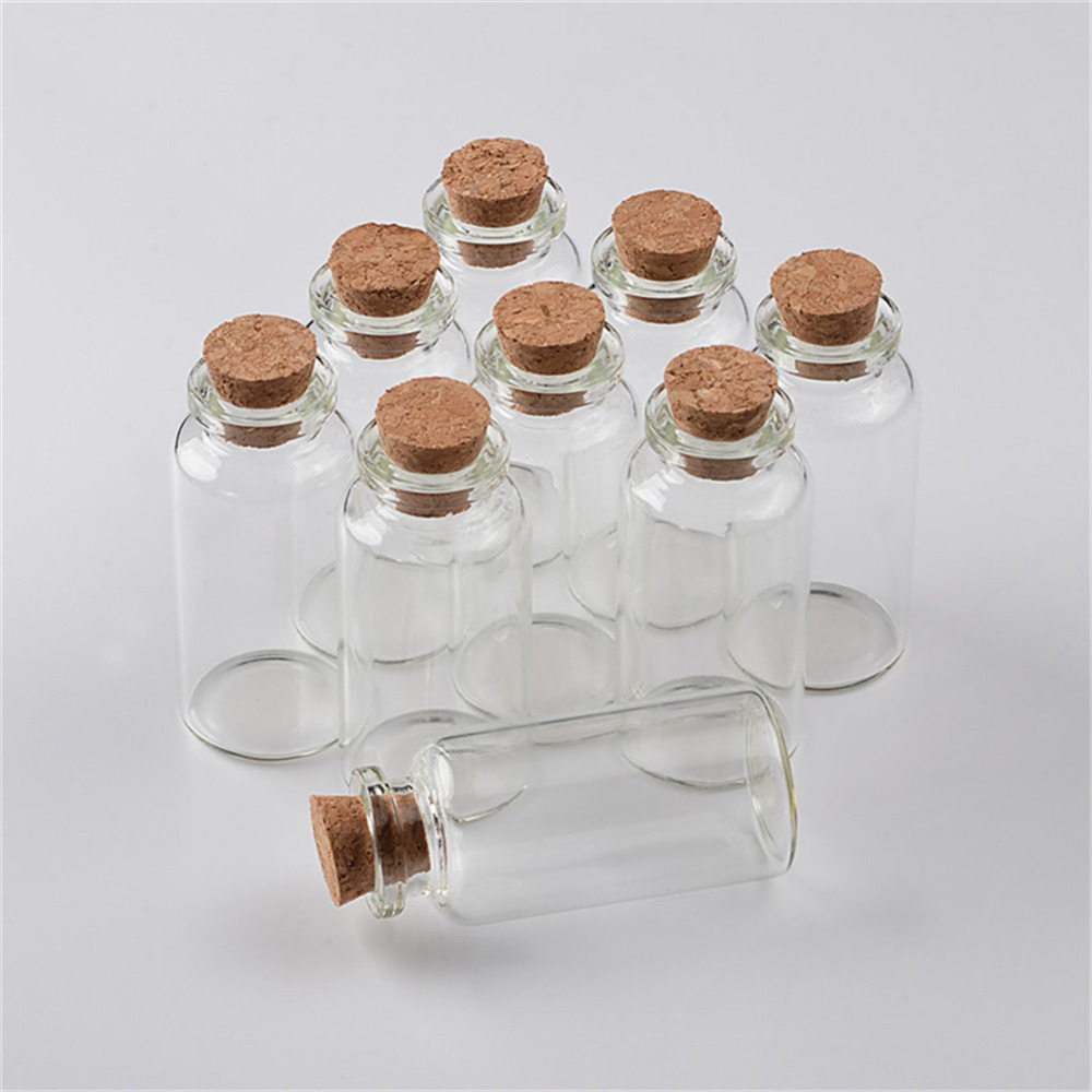 20ml Glass Bottles With Cork Small Transparent Mini Empty Glass Vials Jar1