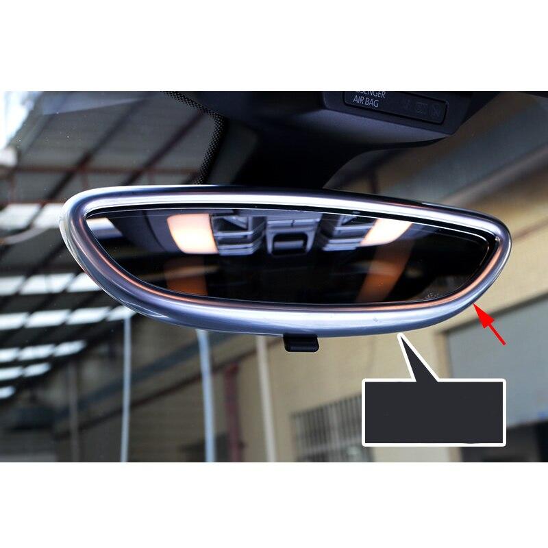 Revêtement d'habillage de moulage intérieur de miroir de vue arrière d'abs de Chrome pour Porsche Macan 2015-2016 - 4