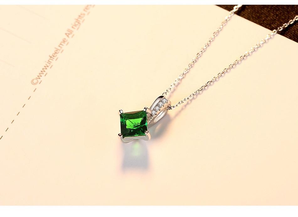 Ювелирные изделия кристалл кулон S925 серебро Цепочки и ожерелья производителей кулон для женщин LB26