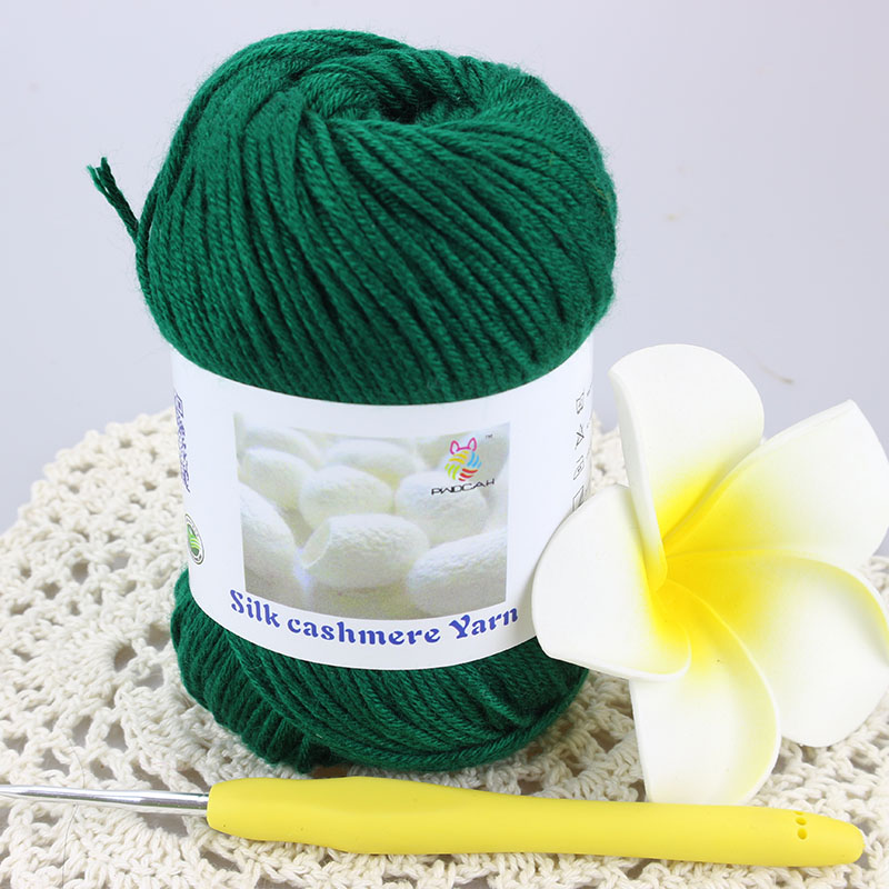Dropshipping Laine Merino Wool Silk Cashmere Knitting Thick Yarn Cotton Crochet Yarns For Hand