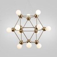 Современные 4/12 головок подвесные лампы бар бутик вилла Beanstalk молекулярное стекло шар дома столовой подвесной светильник ZA81830