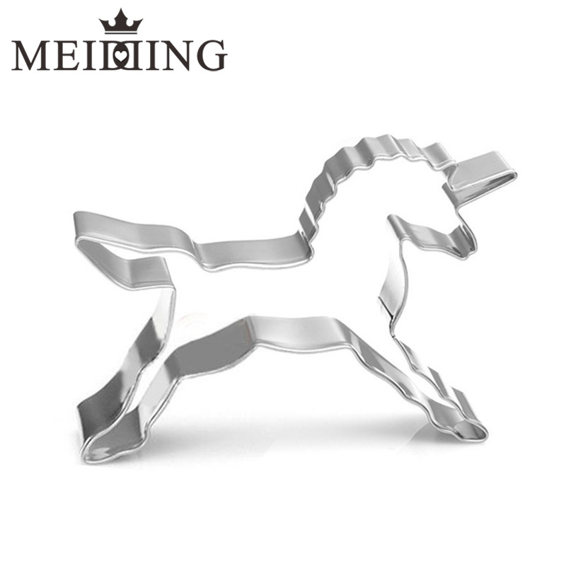 MEIDDING-home Cake Decorations Unicorn Horse Cookies Cutter Mold Party Home Biscuit Pastry Baking Mould unicorn party supplies