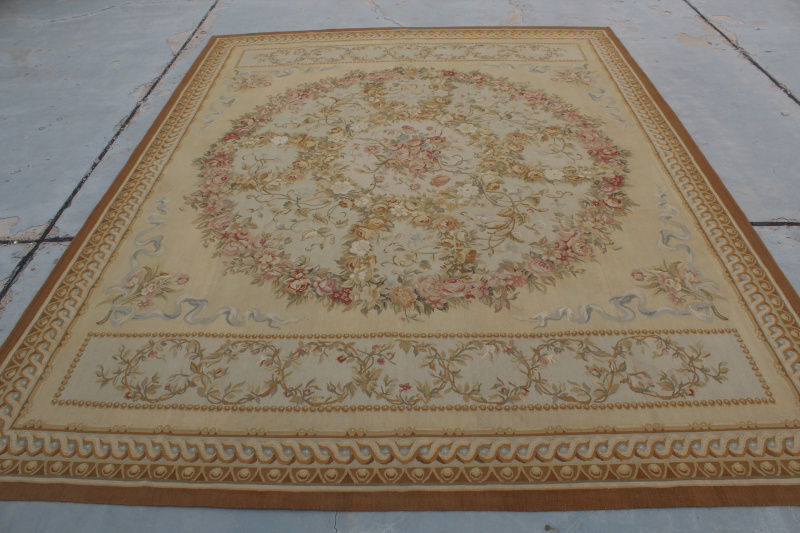 Free Shipping 12 X18 Aubusson Rugs French Aubusson Carpet Handwoven