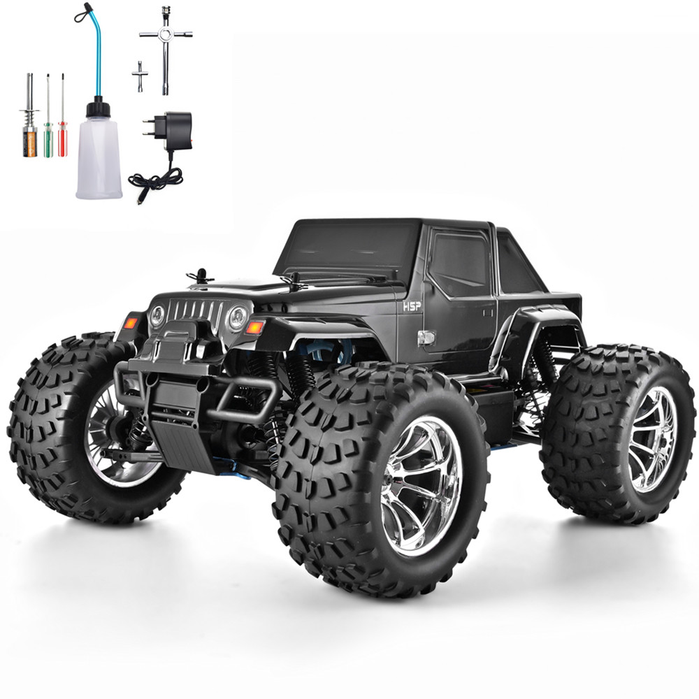 Hsp Rc Truck Nitro Gas Power Off Road Monster Truck 94188: HSP RC Truck 1:10 Scale Nitro Gas Power Hobby Car Two