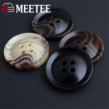50pcs Meetee 12-25mm Resin Plastic Buttons for Clothing Coat Suit Shirt Decor Hole Buckle Scrapbooking Sewing Accessories AP2235