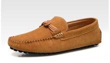 ЕС 38-44 Замши Скольжения На Удобных копейки БИЗНЕС Мокасины мужчины вождения автомобиля обувь мокасины