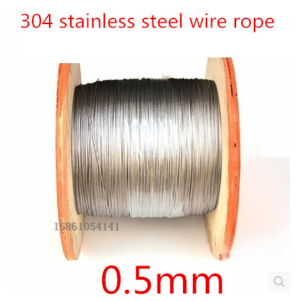 High Quality 100 Meters 0.5mm  1*7  Stainless Steel Wire Rope,