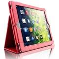 Protección completa del cuerpo smart case para ipad 2/3/4 con Auto Función de despertador Sleep Cubierta Del Soporte Para iPad3 iPad4 Funda Coque