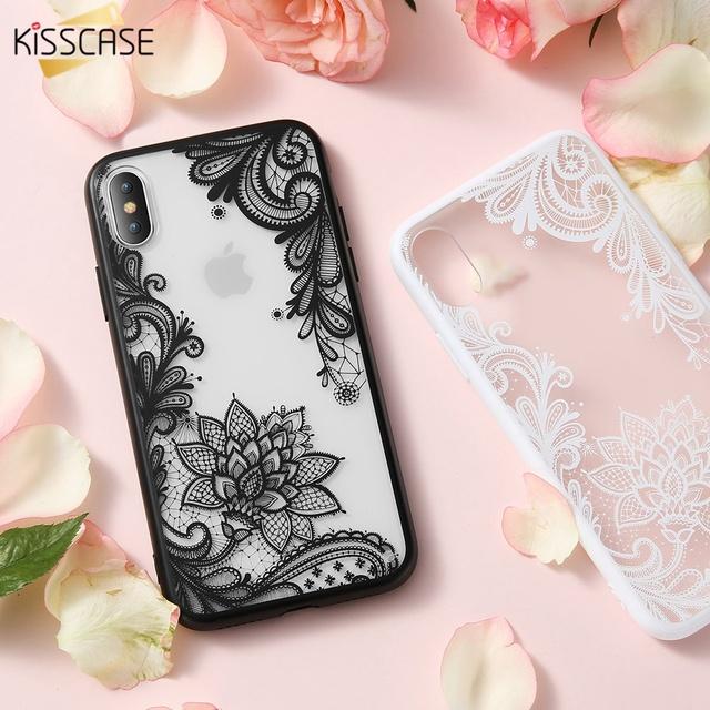 Luxury Flower Lace 3D TPU Case – iPhone