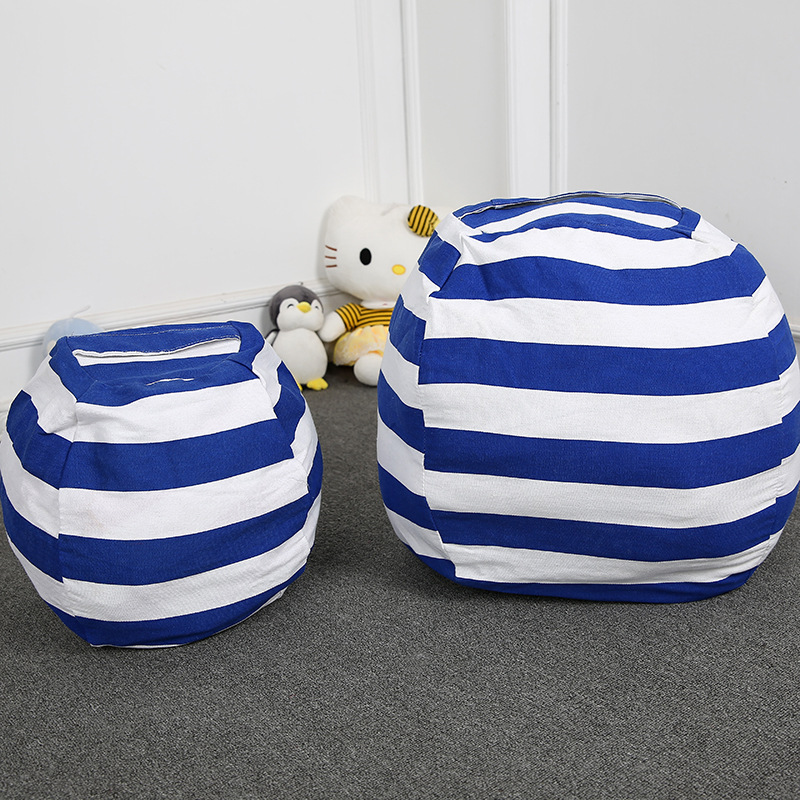 Kid Storage Bag Plush Toys Bean Bag Sofa Stuffed Toys Orgnizer Children Store Toy By Himself 18 Inch Neaten Kid's Bedroom