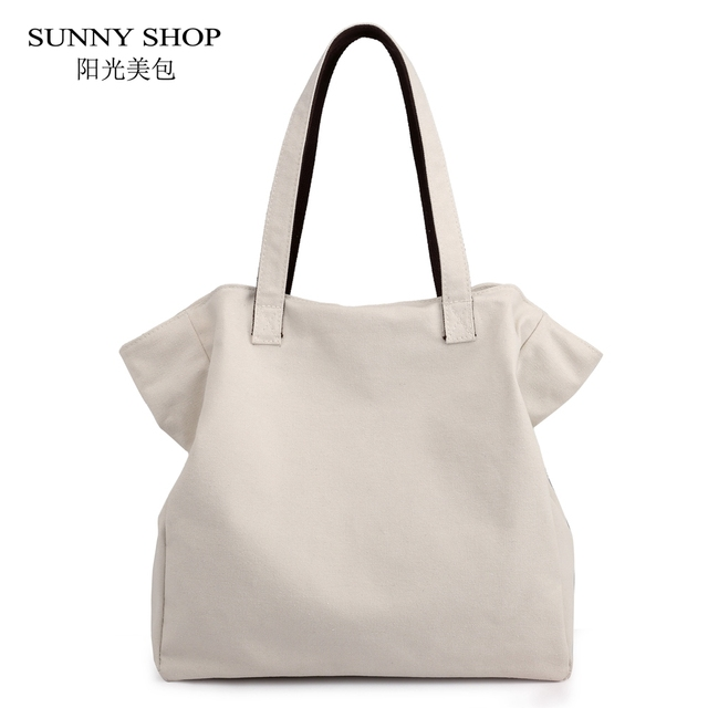 d8823b492731 SUNNY SHOP Vintage Matte Polished Canvas Tote Bag Women 2018 Large Capacity Shoulder  Bag Ladies A4