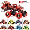 NASHAN Classical Diecast Cars 1:36 Alloy Big Wheels Shock Resistant Pull Back Climbing Car 2 Doors Open Die Cast Buggy Toy Truck