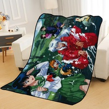 Blankets Throw Beds Diy-Your-Picture-Decoration Travel for Soft Bedroom Inuyasha Custom