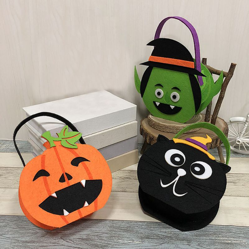 Halloween Pumpkin Ghost Pattern Decor Ornaments Style Children Candy Bag Halloween Cookies Gift Bag Decor Holiday Supplies