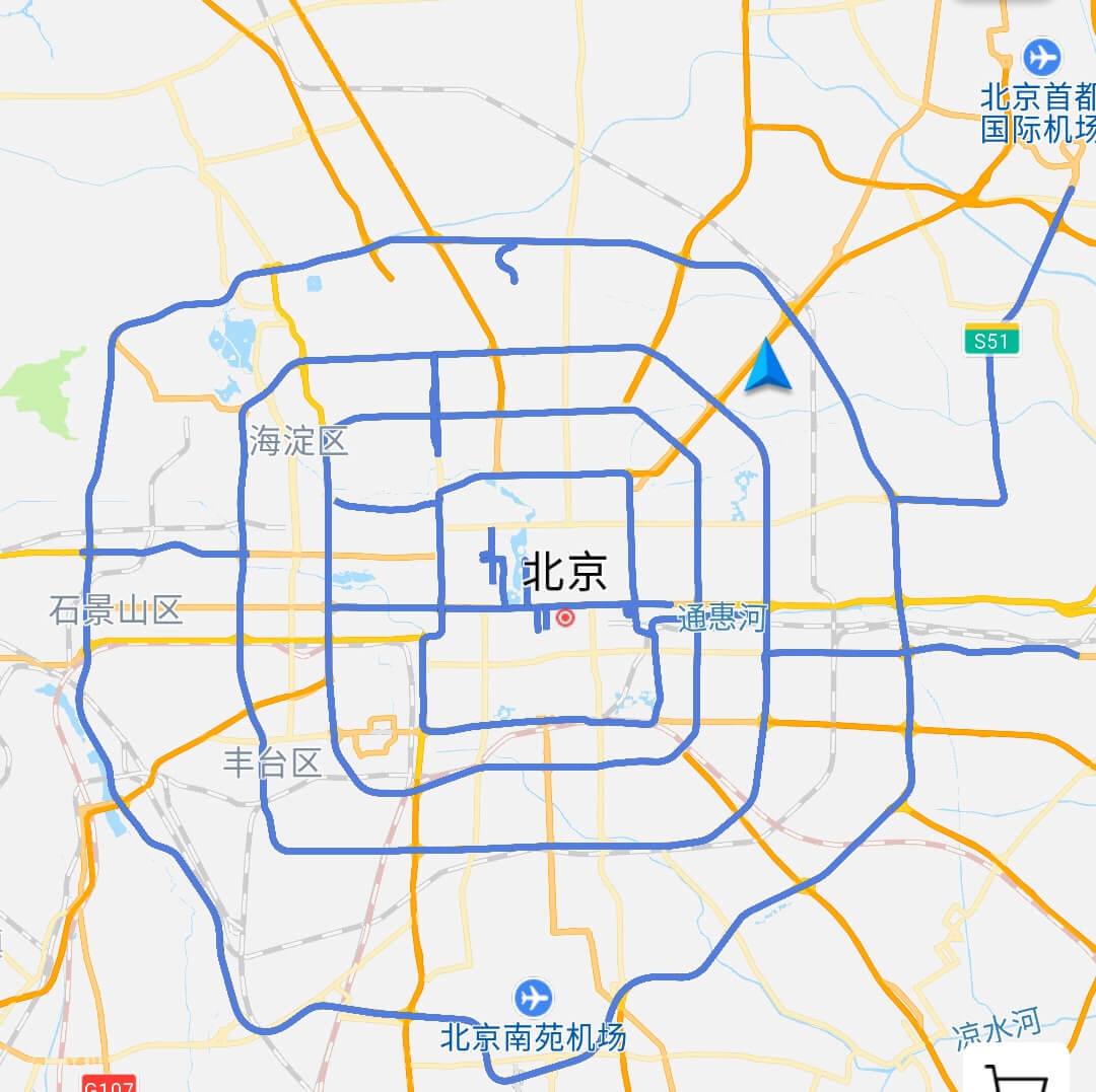 京A禁行示意图