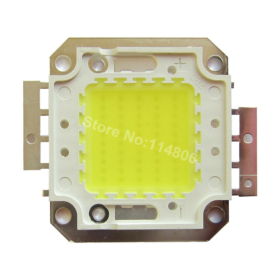 High Power 50W 32mil Chip White 6500K / Warm White 3500K Square Base SMD LED Light lamp Parts DC 32~34V 1500mA 1w led bulbs high power 1w led lamp pure white warm white 110 120lm 30mil taiwan genesis chip free shipping