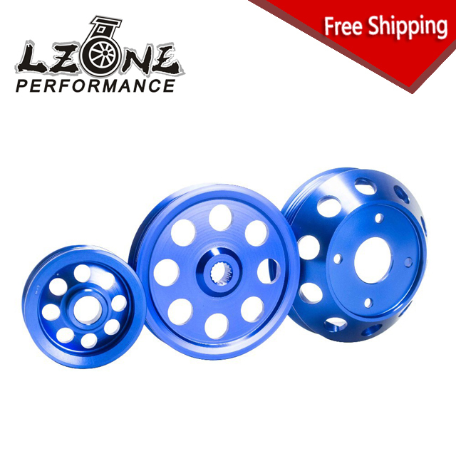 FREE SHIPPING - LIGHTWEIGHT CRANK PULLEY For Nissan SILVIA S14 S15 SR20 PULLEY BLUE JR6872B