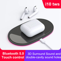 i10 TWS Bluetooth Earphones Wireless Earphone touch control Earbuds With Charging case for all smartphone bluetooth 5.0