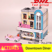 2018 NEW 15037 Genuine 2778Pcs Street view Series The Downtown Diner Set 10260 LEPIN Building Blocks Bricks Funny Toys Gifts