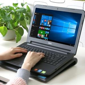 """Image 5 - TeckNet portátil ordenador portátil almohadilla de refrigeración soporte 2 ventiladores USB silencioso portátil refrigerador se adapta a 9 """" 16"""""""