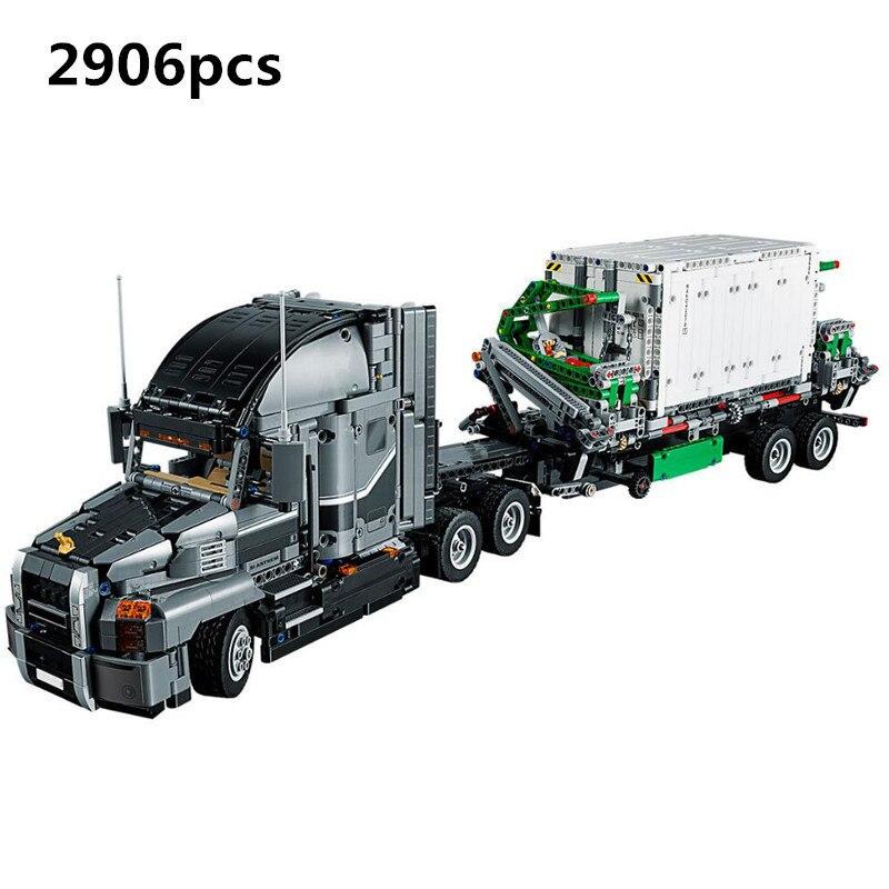 Lepin 20076 Technic Series Big Truck Set 42078 Building Blocks Bricks compatible Legoinglys Educational Children Toys Factory lepin 20076 technic series the mack big