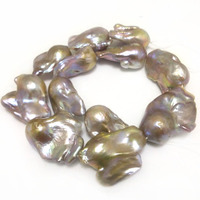 16 inches 30 40mm AAA Natural Lavender Fireball Baroque Pearl Loose Strand