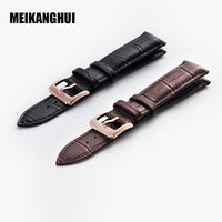 MEIKANGHUI Watchband For Tissot T035 Series Black Brown Genuine Leather High Quality Watch Band For Men
