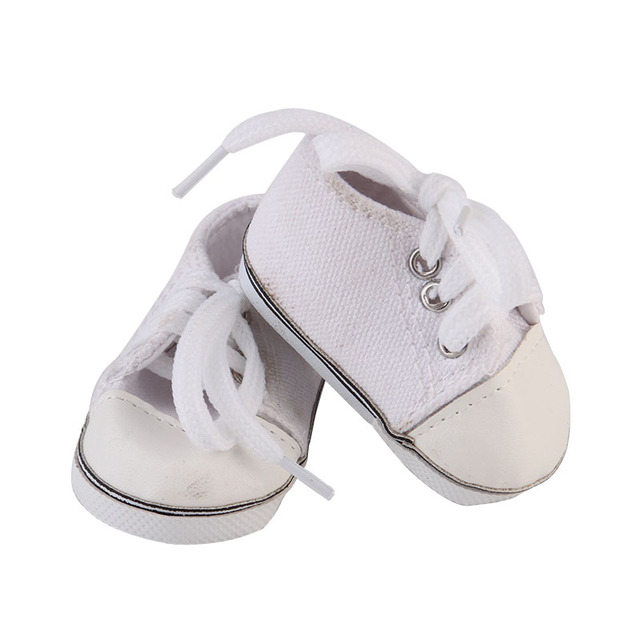 313d167d4412e US $3.99 |White Doll Sneakers fit American Girl Dolls, 18 Inch Doll White  Shoes in Canvas-in Dolls Accessories from Toys & Hobbies on Aliexpress.com  | ...