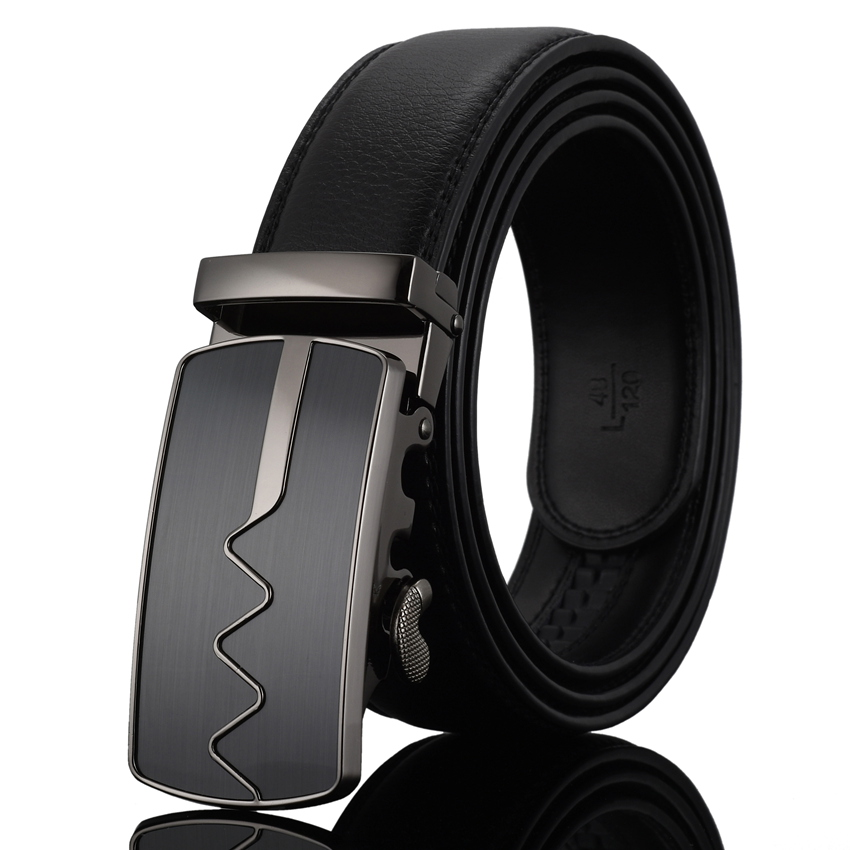 WOWTIGER pria Mode Otomatis Gesper Kulit mewah Man cinturones hombre - Aksesori pakaian - Foto 3
