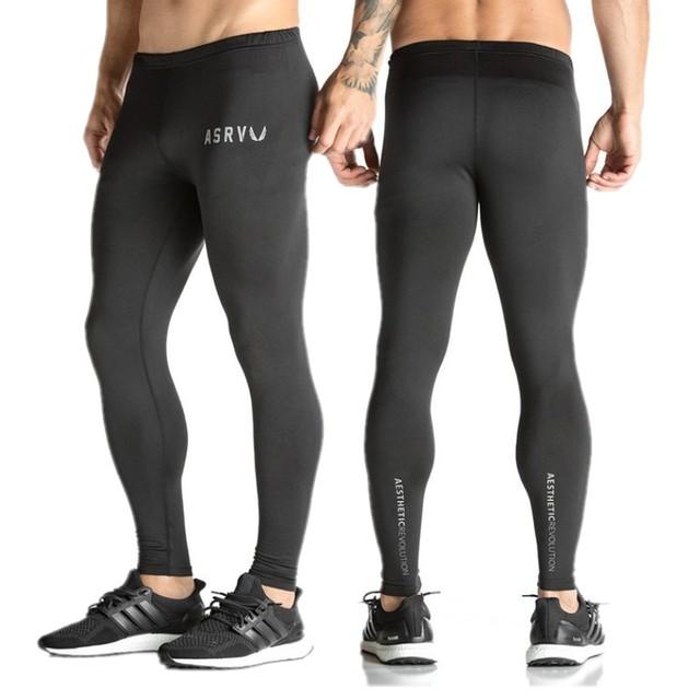 Mens calças de compressão musculação atleta do exercício da aptidão leggings magras comperssion justas calças calças roupas roupas